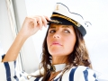 Carina in a nautical mood behind the scenes @ Jeff Ayliffe shoot