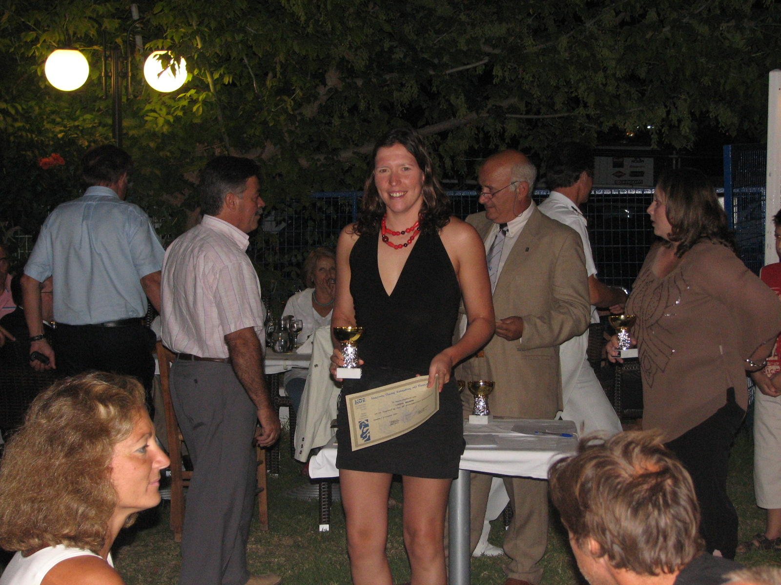 Carina takes second female and 4th place overall in Kalamata 2006
