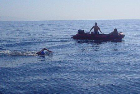 Carina breaks female record across Gibraltar Straits