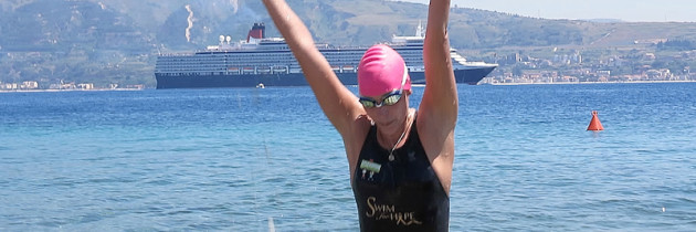 Carina Swims for Hope across the Bonifacio Straits and 4 ways across the Messina Straits