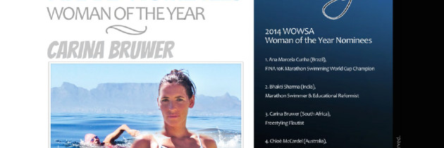 Carina nominated for 2014 World Open Water Swimming Association Woman of the Year Award