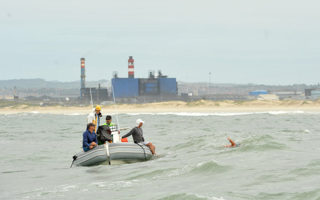 Carina becomes first woman to cross Nelson Mandela Bay